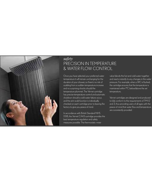 Additional image of Crosswater Belgravia Crosshead Slimline Portrait Thermostatic Shower Valve With 3 Way Diverter