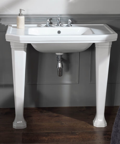 Additional image of Silverdale Empire 920 x 555mm White 3 Tapholes Console Basin