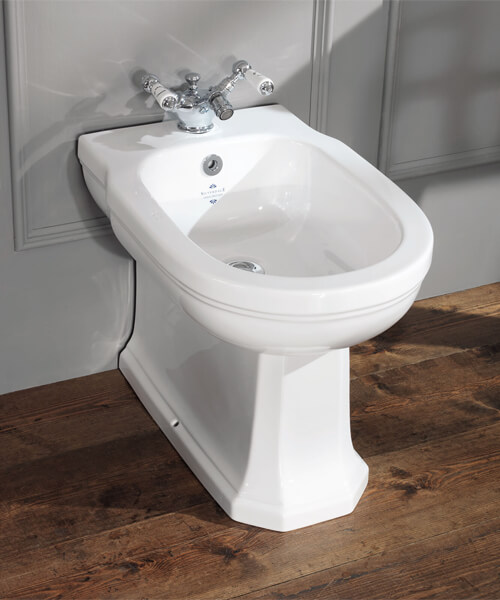 Silverdale Empire 365 x 530mm Back To Wall Freestanding Bidet White