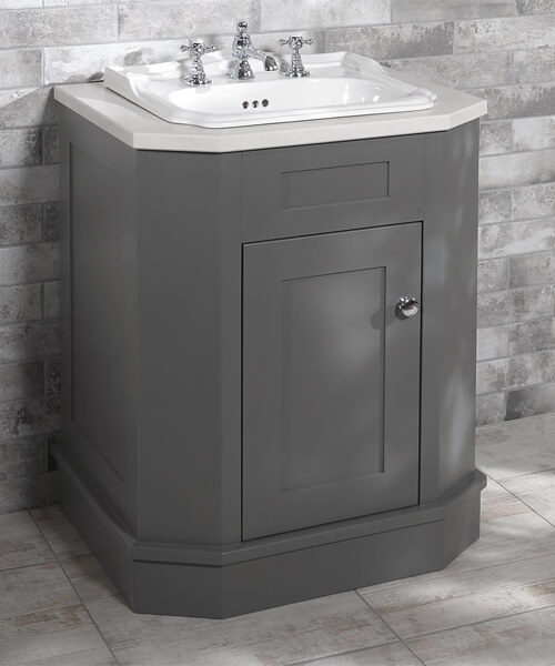 Silverdale Balasani 700mm Grey Unit With Surface Top And 3Th 520mm Basin