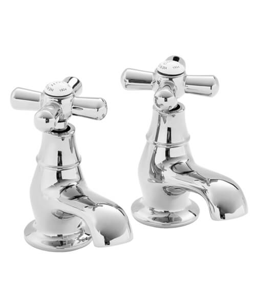 Heritage Ryde Deck Mounted Pair Of Bath Pillar Tap
