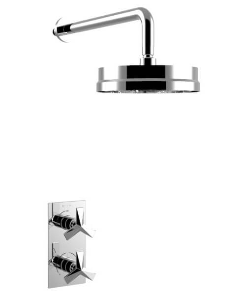 Heritage Hemsby Chrome Recessed Thermostatic Valve With Fixed Head
