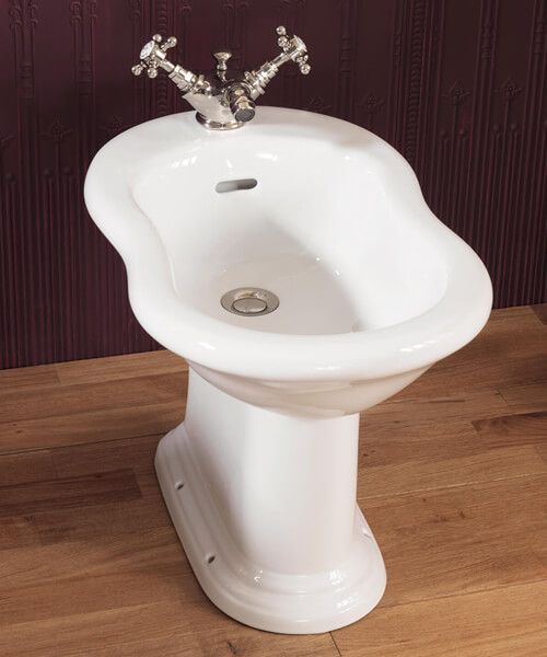 Silverdale Victorian 360 x 570mm Freestanding White Bidet