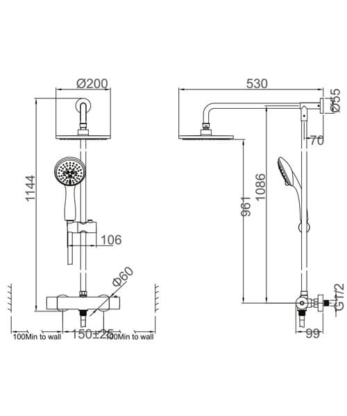 Technical drawing 52352 / MB500RM