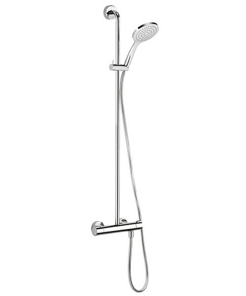 Crosswater Solo Exposed Thermostatic Shower Valve With Single Mode Handset