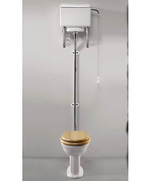 Silverdale Belgravia 440 x 670mm White High Level Toilet