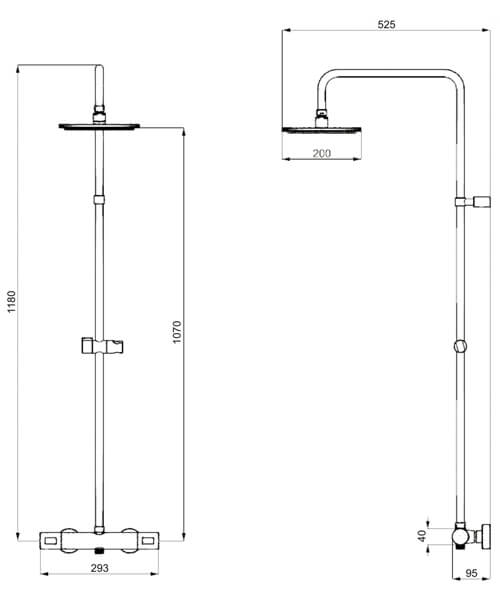Technical drawing 1847 / RM530WC+