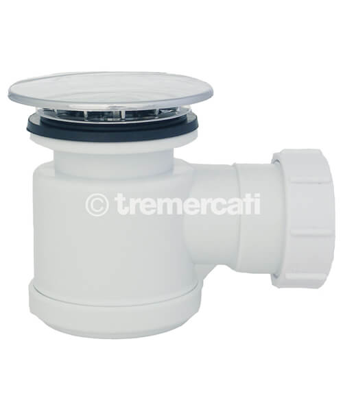 Tre Mercati Combined Plastic Shower Trap And Waste With Removable Grid