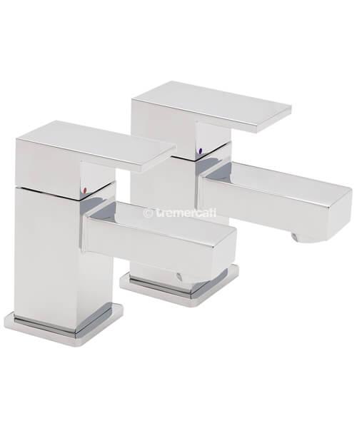 Tre Mercati Edge Pair Of Bath Tap Chrome