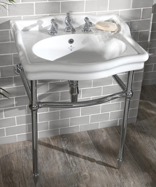 Additional image of Silverdale Loxley Classic 650 x 560mm White 3 Taphole Basin