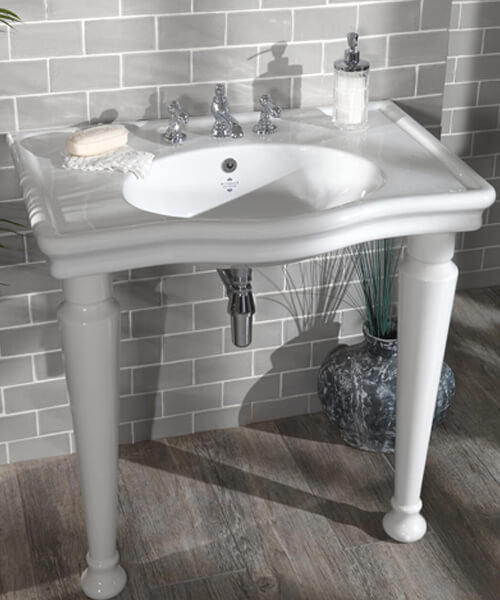 Silverdale Loxley 860mm Basin With 3 Tap Holes White