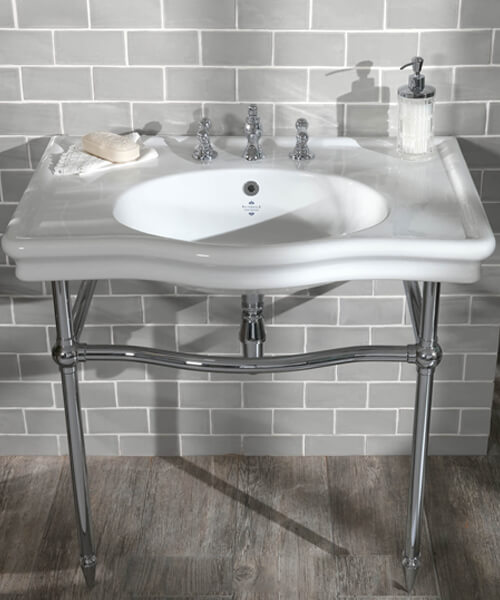 Additional image of Silverdale Loxley 860mm Basin With 3 Tap Holes White