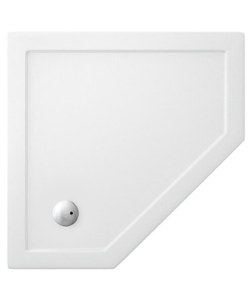 Simpsons Pentagon 35mm Acrylic Low Profile 900 x 900mm Shower Tray