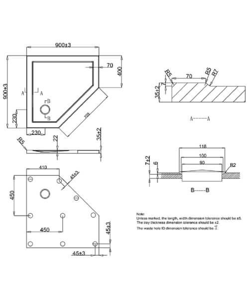 Technical drawing 7034 / ST000P900