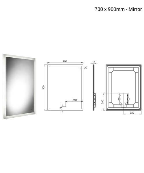 Additional image of Roper Rhodes Ultra Slim LED Mirror