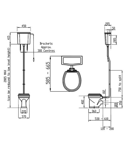 Technical drawing 32948 / LOCLOHL6WHI