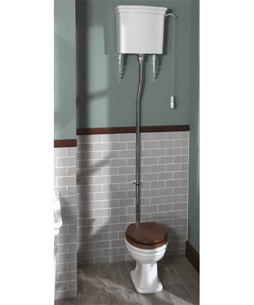 Silverdale Loxley 450 x 665mm High Level Pan And Cistern White