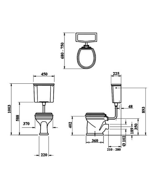 Technical drawing 32947 / LOCLOHL6WHI