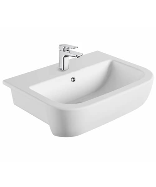 Pura Duro Semi Recessed Basin 560mm With One Tap Hole