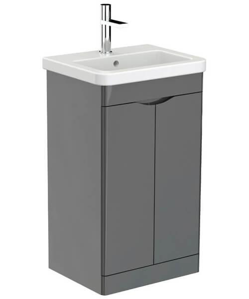 Additional image of Saneux Indigo Floor Standing 2 Door Bathroom Cabinet