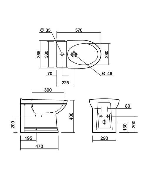 Technical drawing 32953 / DSBID1THWHIBL