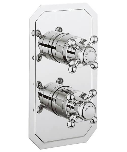 Crosswater Belgravia Crosshead Slimline Portrait Thermostatic Shower Valve With 3 Way Diverter