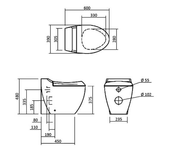 Technical drawing 32815 / SILWI102