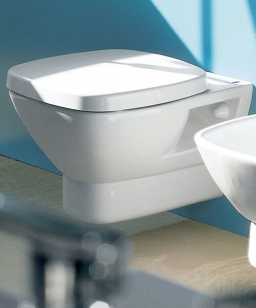 Silverdale Ascot 340x 560mm Wall Mounted Pan With Soft Close Seat White
