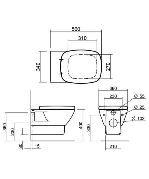 Technical drawing 32830 / SILAS101SC