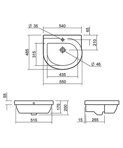 Technical drawing 32848 / SILRI603