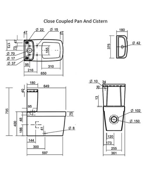 Technical drawing 32843 / SILHE100SC