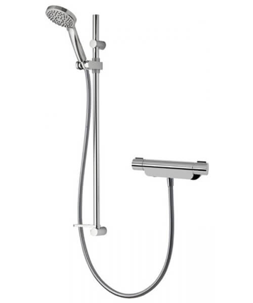 Aqualisa Midas 220 Thermostatic Bar Mixer Shower Valve With Adjustable Head