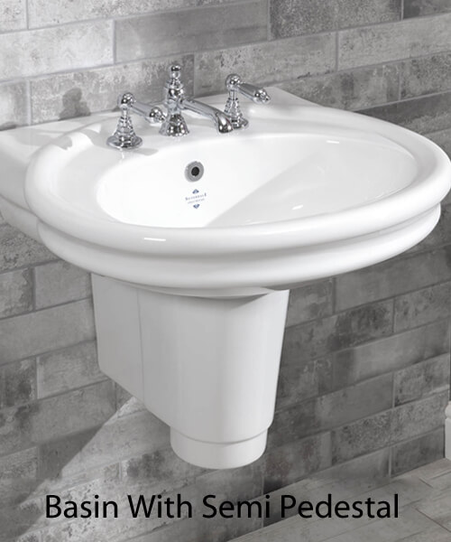 Additional image of Silverdale Hillingdon 650 x 550mm White 1 Taphole Basin
