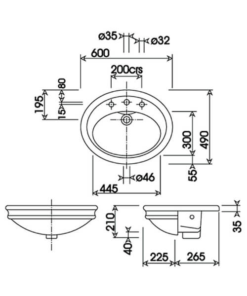 Technical drawing 32964 / HIBASSCAWHIBL