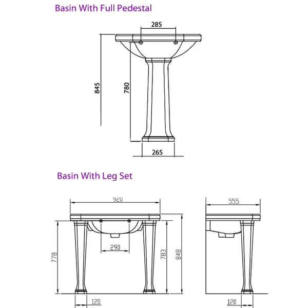 Technical drawing 32897 / EMBAS92HWHIBL