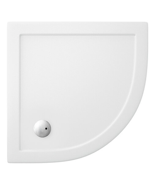 Britton Zamori Acrylic Quadrant Shower Tray 800 x 800 x 35mm