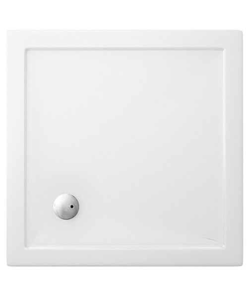 Britton Zamori Acrylic Square Shower Tray 900 x 900 x 35mm