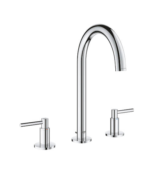 Grohe Atrio Deck Mounted Three-Hole Basin Mixer Tap With Pop Up Waste