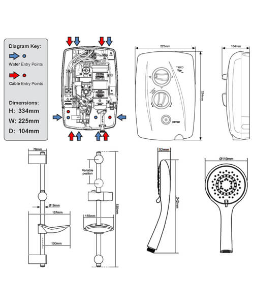 Technical drawing 11780 / SP8008ZFF