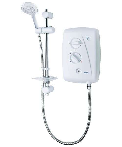Triton T80Z Fast Fit White And Chrome Electric Shower 8.5KW