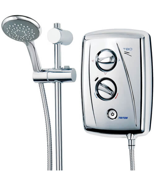 Alternate image of Triton T80Z 8.5KW Fast Fit White And Chrome Electric Shower