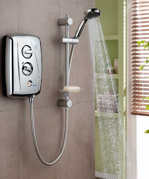 Alternate image of Triton T80Z Fast Fit White And Chrome Electric Shower 8.5KW