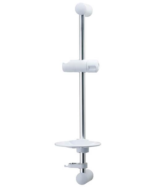 Triton Aaron 530mm White And Chrome Shower Riser Rail