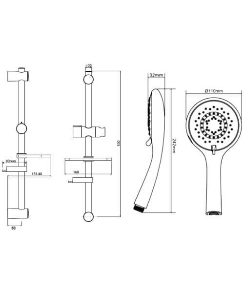 Technical drawing 50728 / TSKFAD28000WC