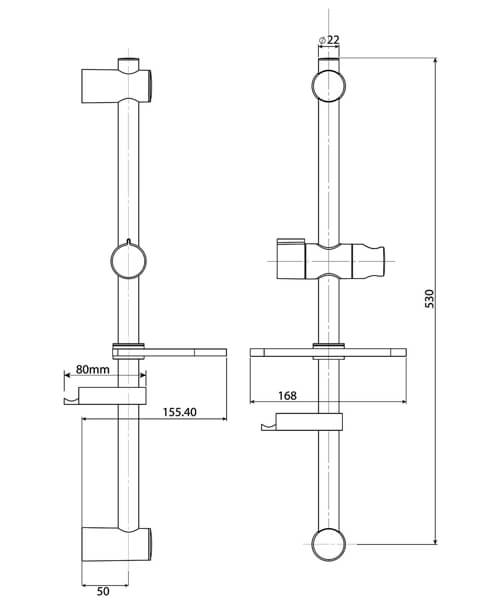 Technical drawing 50745 / TSKADAM2WC