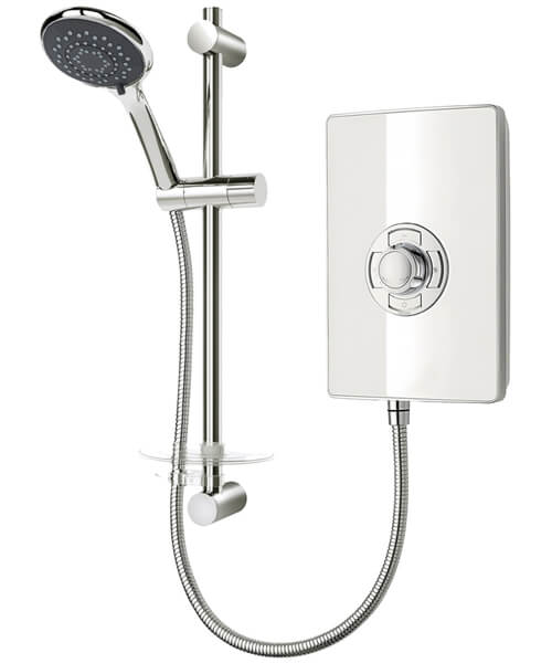 Triton Aspirante White Gloss Electric Shower 8.5 KW