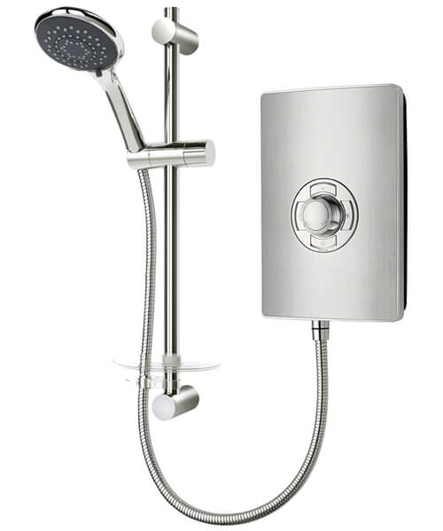 Triton Aspirante 9.5 KW Brushed Steel Electric Shower