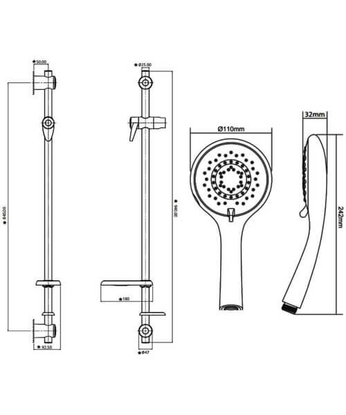 Technical drawing 50762 / TSKCARESTDWHT