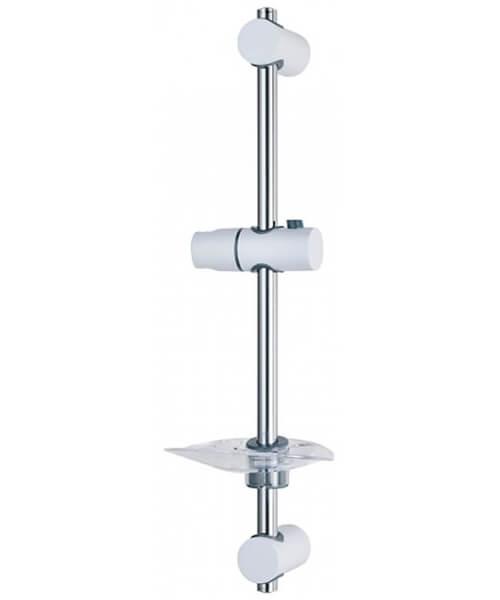 Triton Lewis White Shower Riser Rail