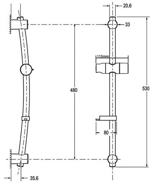Technical drawing 50754 / TSKFLUCLARWC